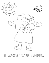 Mothers Day Coloring Pages For Nana Grandma