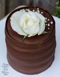 Triple Chocolate Cake With White Rose Olisons Cupcakes