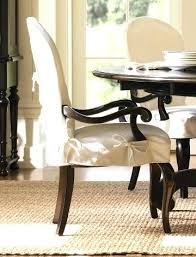 Dining Room Chair With Arms Covers Chairs White Pertaining To Slipcovers For
