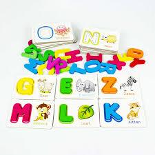 pädagogisches wortschatz wort bild spiel spielzeug alphabetisierung karten spiel karte englisch alphabet buchstaben lernen spielzeug 1 set