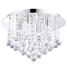 badezimmer deckenleuchte almonte in chrom kristall klar 4x2
