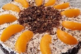 schokocrossies torte mit pfirsichen leeeckermäulchen