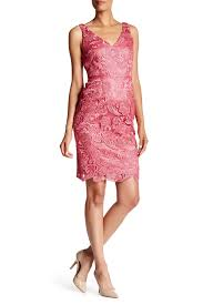 adrianna papell v neck slim guipure lace dress hautelook