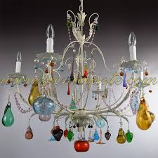 liber murano glass chandelier