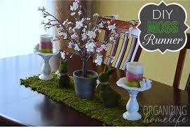 DIY Moss Runner For Spring Tablescape
