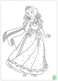 Disney Coloring Pages Princess Christmas