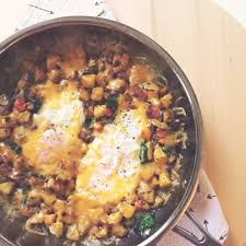 Cheesy Home Fries With Eggs and Spinach A Brunch for Two Recipe