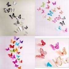 Home Decor New 18pcs 3D Butterfly Wall Stickers Art Design Decal PVC Decoration