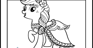 My Little Pony Applejack In Wedding Dresses Coloring Pages