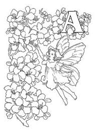 Flower Fairy Alphabet Coloring Pages