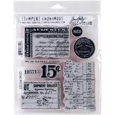 Stamper Anonym Tim Holtz Klammern Briefmarken 7