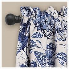 Jacobean Floral Design Curtains by Cynthia Jacobean Room Darkening Window Curtain Set Blue 52