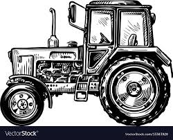 100 Truck Tractor Handdrawn Farm Truck Tractor Transport Sketch Vector Image