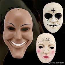 Scary Halloween Half Masks by The Theme The Purge Collector Human Out God Terrorist Mask