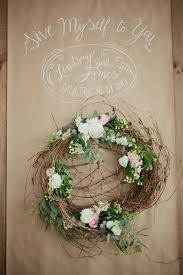 Love This Craft Paper Backdrop Personalized With Wedding Names And A Wreath Cute