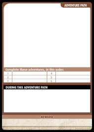 Community Use Package Pathfinder Adventure Card Game Templates