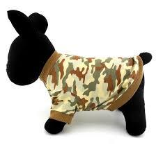 pet clothes small dog cat 100 cotton camo camouflage print shirt