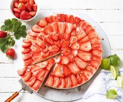 erdbeer limetten tarte