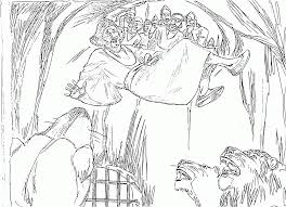 Coloring Page Click This Size Link Daniel Pray In And The Lions Den