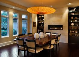 Modern Dining Room Fireplace