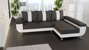 canap d angle but gris et blanc canapé d angle convertible en pu et tissu kivu coloris gris et