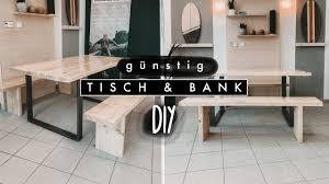 diy tisch und bank aus holz selber bauen einfach und günstig aus massivholz easy alex