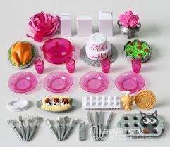 Free ShippingDoll Kitchen Sets Accessories 36items Lot Covered Tableware Cake Rement Set For Barbie Doll 1 6 In Dolls From Toys Hobbies