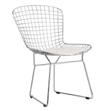 Mid Century Style Wire Dining Chair W/ White Cushion - AptDeco White Wire Diamond Ding Chair Fmi1157white The Home Depot Shop Poly And Bark Padget Eiffel Leg Set Of 2 Bottega Tower Ding Chair By Sohoconcept Luxemoderndesigncom Commercial Gold Leaf Shape Metal Chairgold Color Bellmont Bertoia Of Rose Harry Oster Black Project 62 In 2019 4 Wire Ding Chairs Black With Cushion 831 W Green Cushion Zuo Eurway Holly Reviews Joss Main Hashtag Bourquin Wayfair Simple Hollow For Living Room