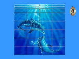rennara s dolphin mural bathroom tiles