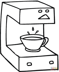 Click The Coffee Machine Coloring Pages