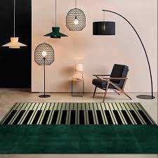 mode moderne 3d nordic licht luxus grün gold klavier tasten teppich wohnzimmer schlafzimmer nacht bereich teppich fußmatten weichen home matte