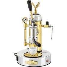 Elektra Micro Casa S1C Leva Chrome Brass Manual Lever Espresso Cappuccino Machine