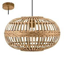 100 Wooden Ceiling Amsfield Contemporary Brown Pendant Light 49771