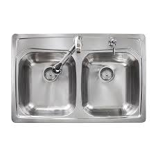 33x22 Stainless Steel Sink by Shop Kindred Essential 33 In X 22 In Double Basin Stainless Steel