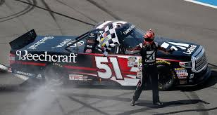 100 Nascar Truck Race Results Kyle Busch Wins Pocono To Tie Ron Hornaday Jr With 51st Win MRN