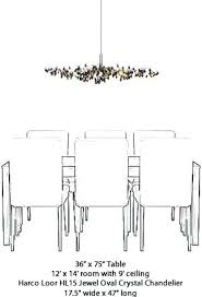 Size Of Chandelier For Dining Room Jewel Oval Calculator Correct Living