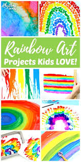 Arts And Craft Ideas For Kids Easy Rainbow Art Projects Christmas Toddlers