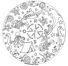 Mandala A Imprimer Vacances Mandalas Sur Le Thème Des Animaux Avec