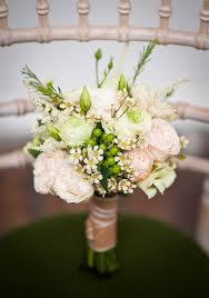 White Bouquet With Green Foliage Beautiful Onefabday Rustic