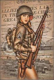 Vintage Army Pin Ups