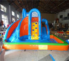 Giant Inflatable Water Slide With Pool Inflatable Pool Slides For