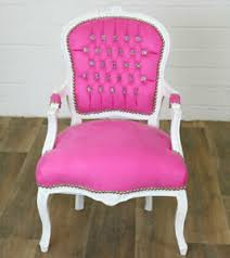 details zu barock stuhl antik weiß look chair luxus barock sessel stuhl pink weiss