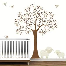 Tree Wall Decor Baby Nursery by Tree Wall Decal With Lamb Sheep Baby Nursery E103