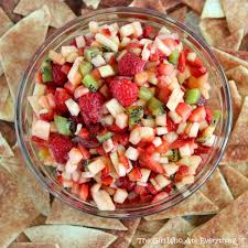 Fruit Salsa With Baked Cinnamon Chips The Girl Who Ate