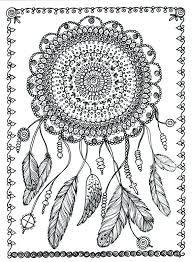 Poster Dreamcatcher Art To Color Large 11 X 14 By ChubbyMermaid