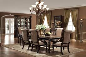 Elegant Formal Dining Room Sets With Strong And Durable Material Captivating Decorative Flowers On Classic