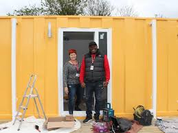 100 Shipping Containers Converted The City Using Shipping Containers To Combat Homelessness The