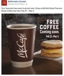 Mcdonalds Pumpkin Spice 2017 by Mcdonald U0027s Free Coffee Starting Monday February 27 2017