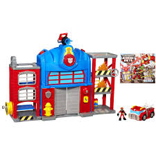 Buy Transformers Rescue Bots Playskool Heroes Fire Station Prime In ...