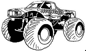 Grinder Monster Truck Coloring Pages
